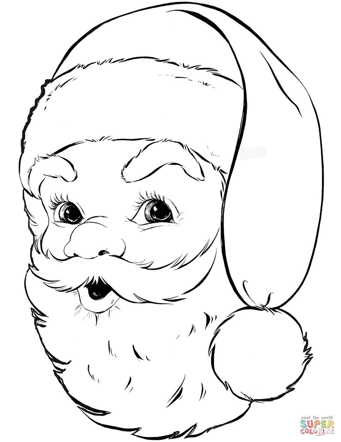 Easy Santa Coloring Pages With Claus Free