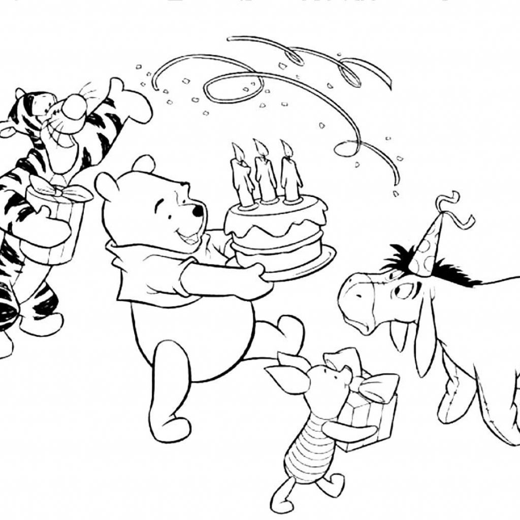 Eeyore Christmas Coloring Pages With Image Result For Birthday Page