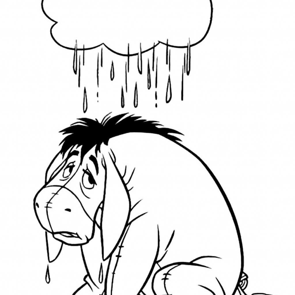 Eeyore Christmas Coloring Pages With Xmas Stuff For Sam S Art
