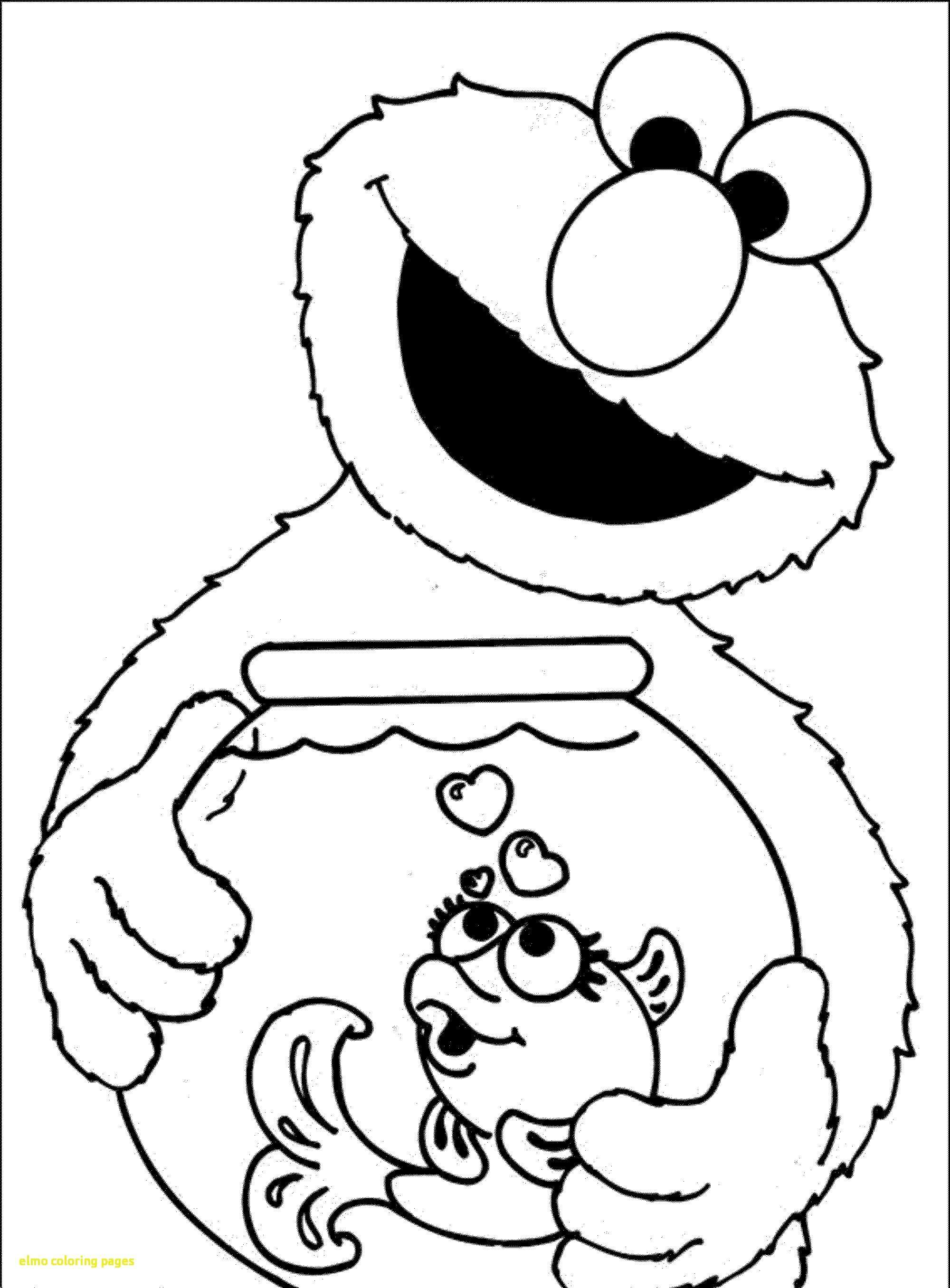 Elmo Christmas Coloring Pages Printable With And Cookie Monster To Print