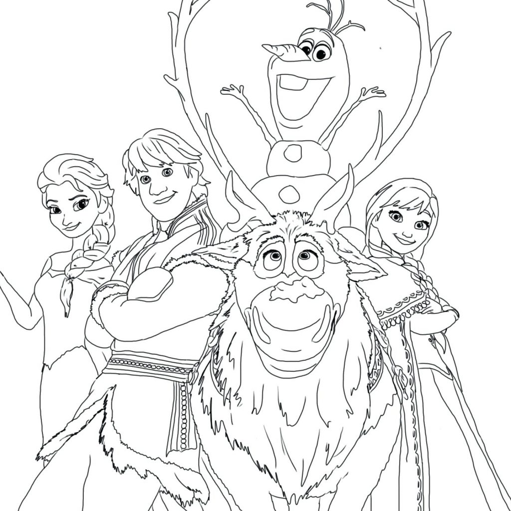 Elsa Christmas Coloring Pages Printable With New Disney Princess Gallery