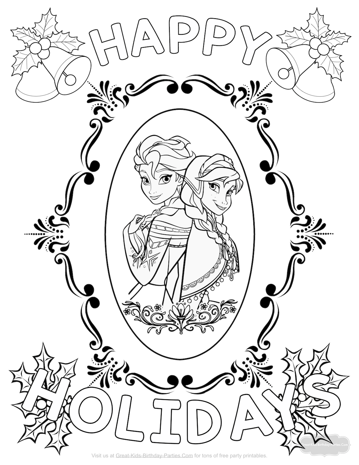 Elsa Christmas Coloring Pages Printable With
