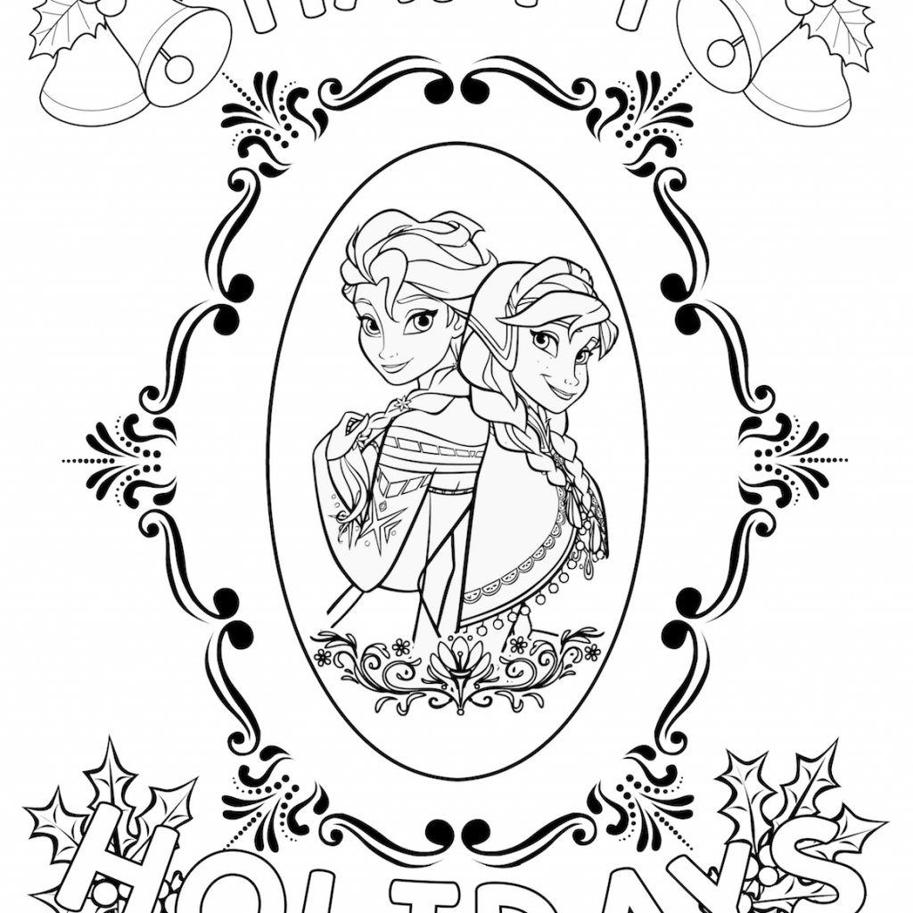 Elsa Christmas Coloring Pages With