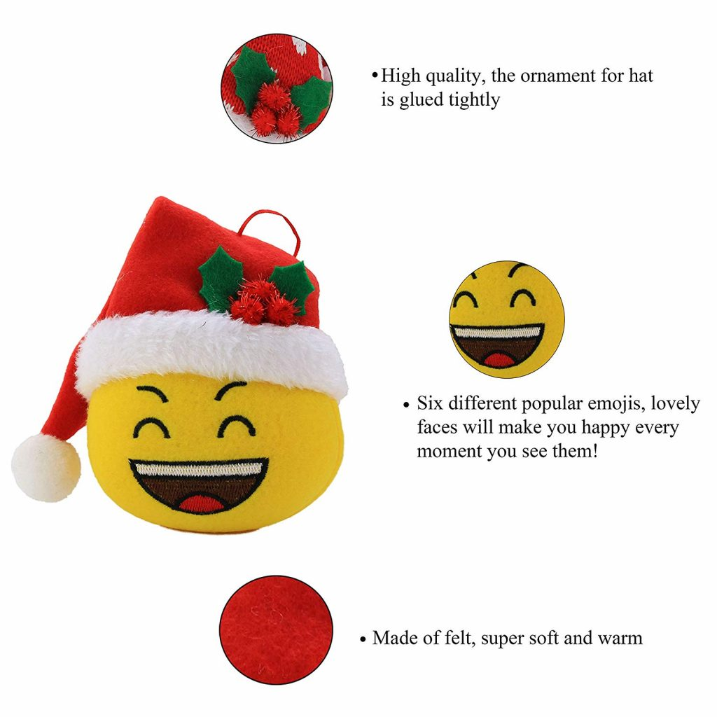 Emoji Santa Coloring Pages With Amazon Com Wewill 6 Pieces Plush Toy Christmas Balls