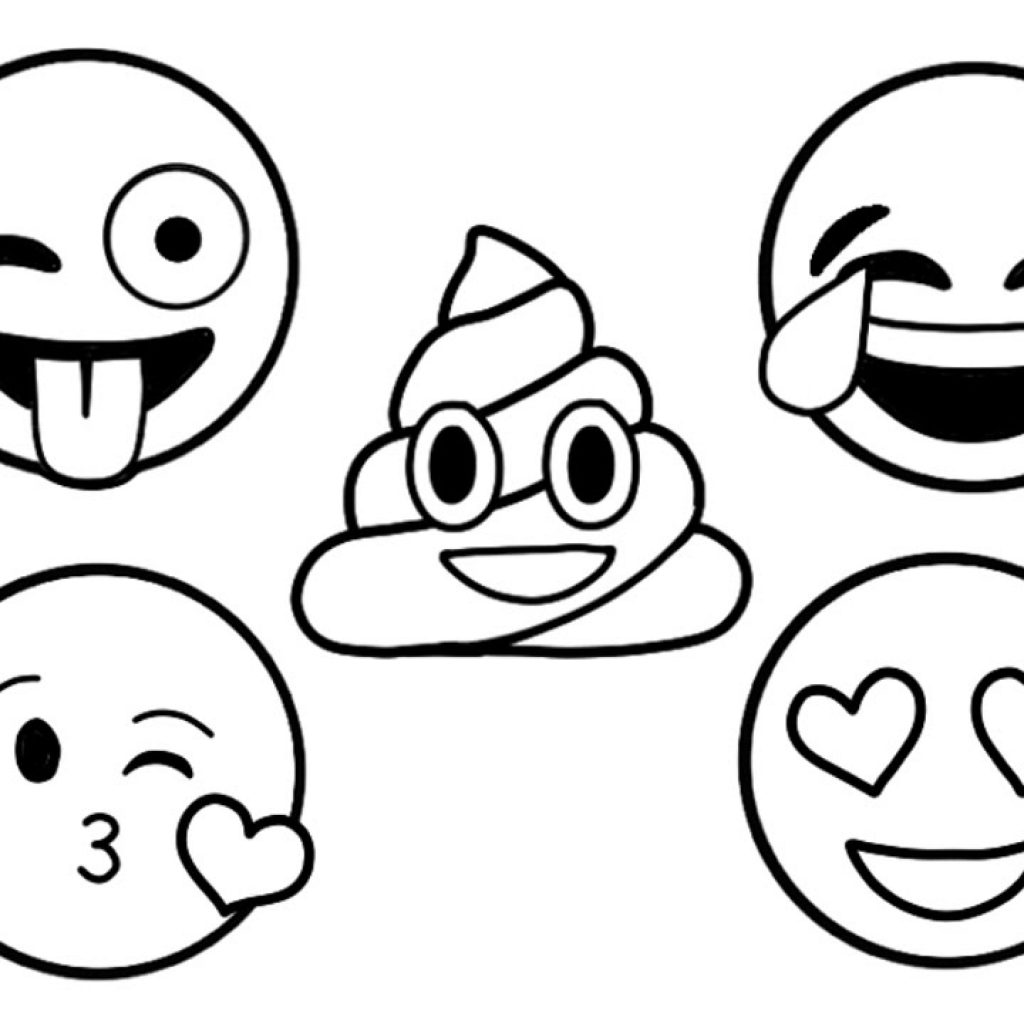 Emoji Santa Coloring Pages With EMOJI How To Draw And Color Faces Learn