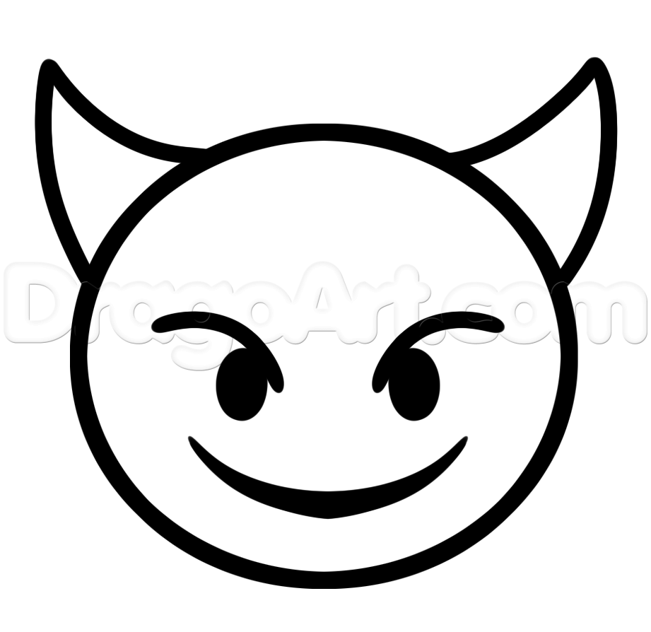 Emoji Santa Coloring Pages With Faces Devil Artsy Stuff I Like To Draw