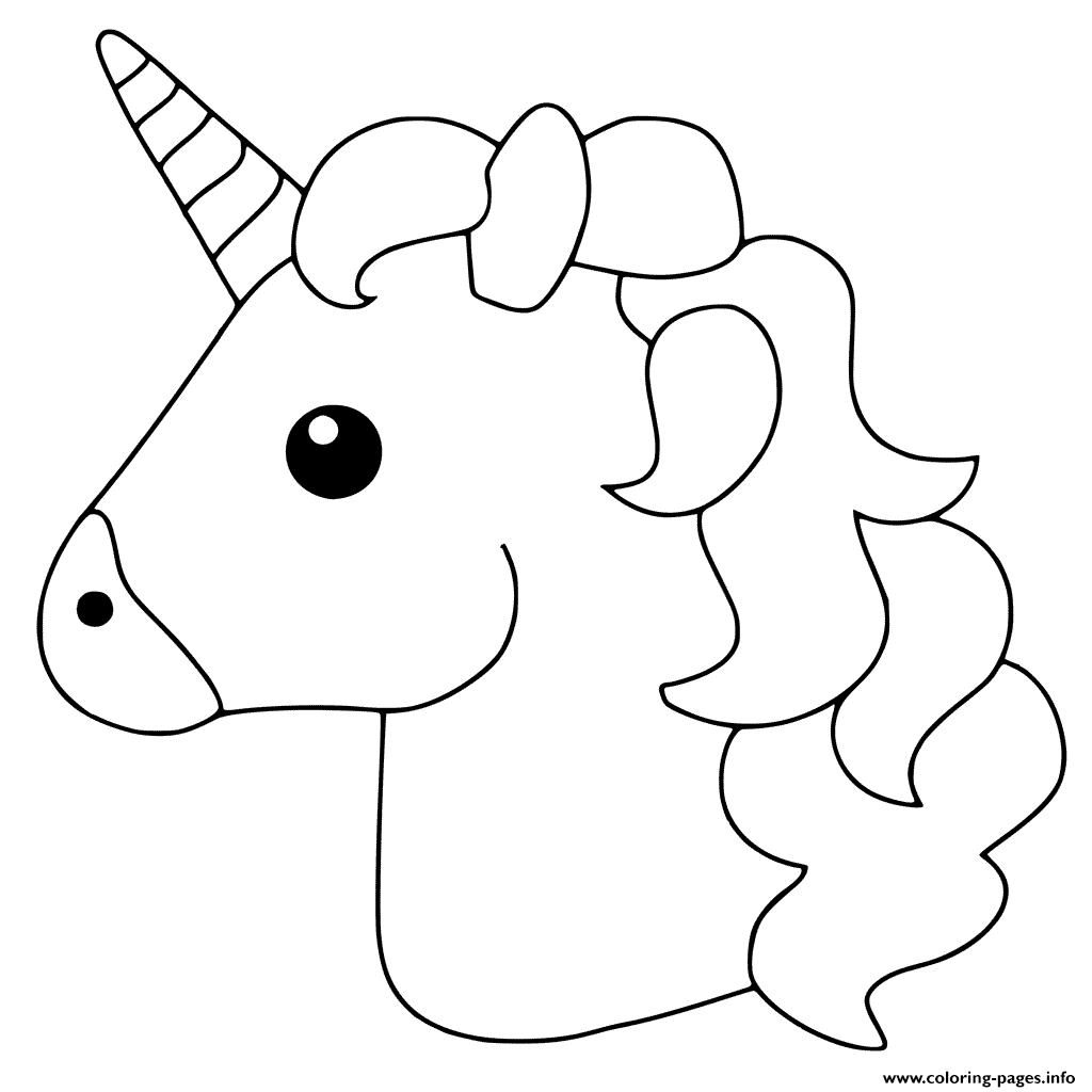 Emoji Santa Coloring Pages With Unicorn Printable