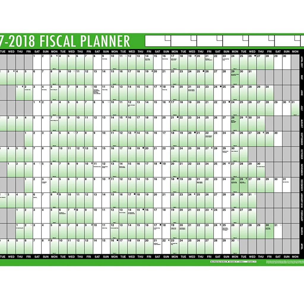 Financial Year Calendar 2019 20 Australia With Tallon Fiscal Wall Planner 2018 19 Amazon Co Uk Office Products