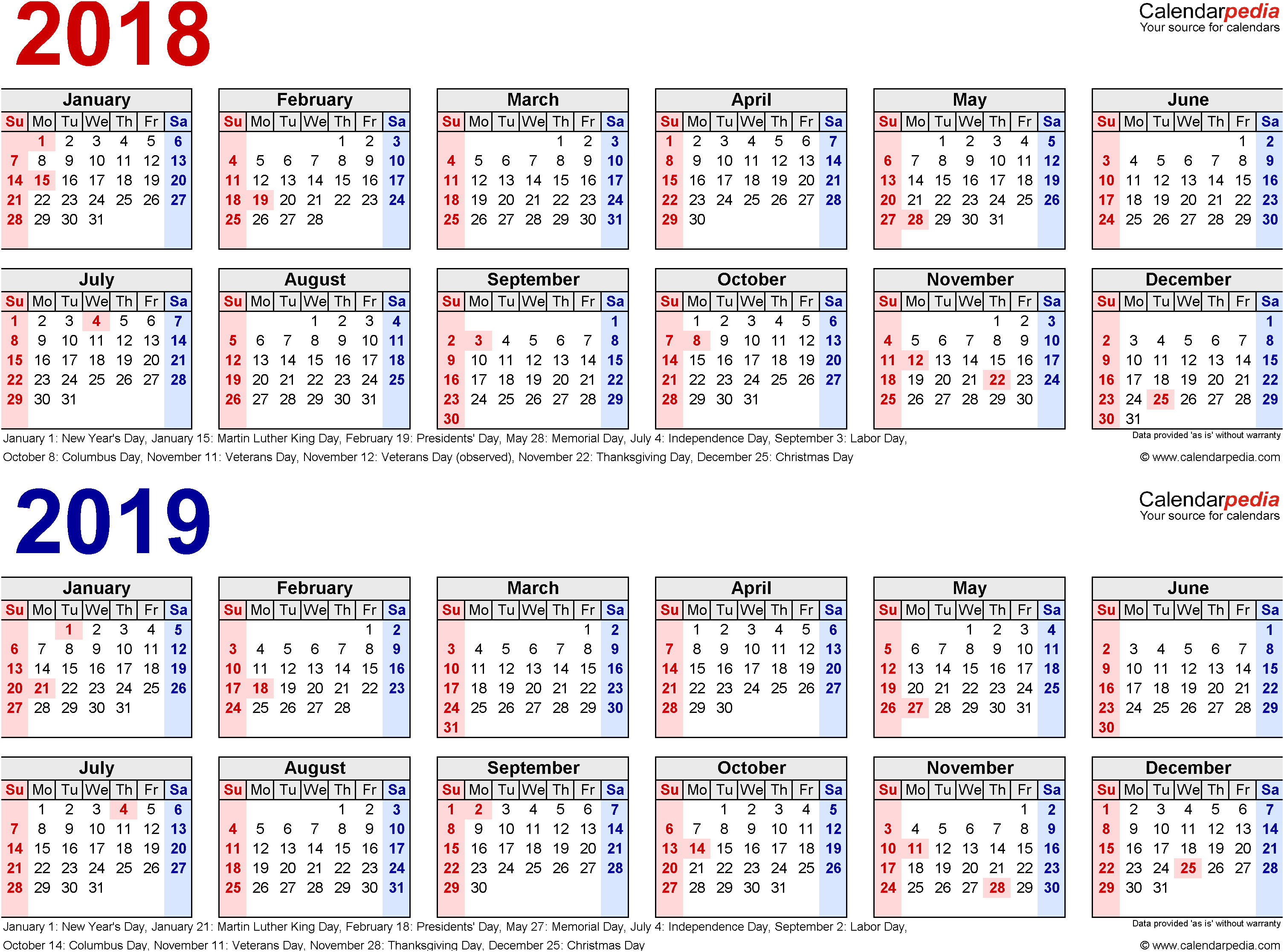 Fiscal Year 2019 Calendar With 2018 Are Taxes Based Fulltrunk Com