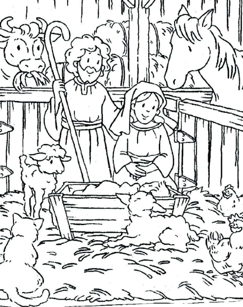 Free Christian Christmas Coloring Pages Printable With Collection Of Download Them And