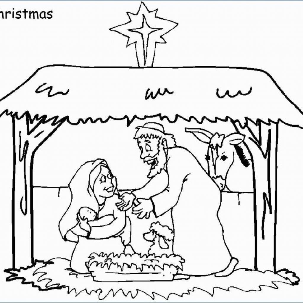 Free Christian Christmas Coloring Pages Printable With Unique Nativity