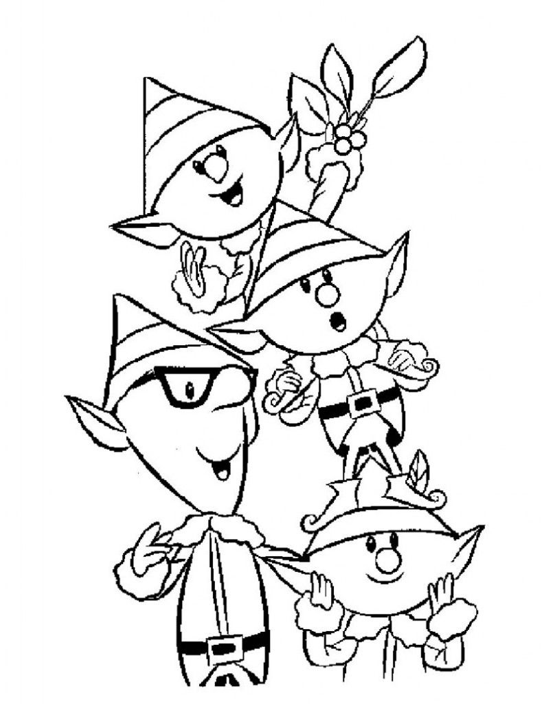 Free Christmas Coloring Pages Elf With Printable For Kids Holidays