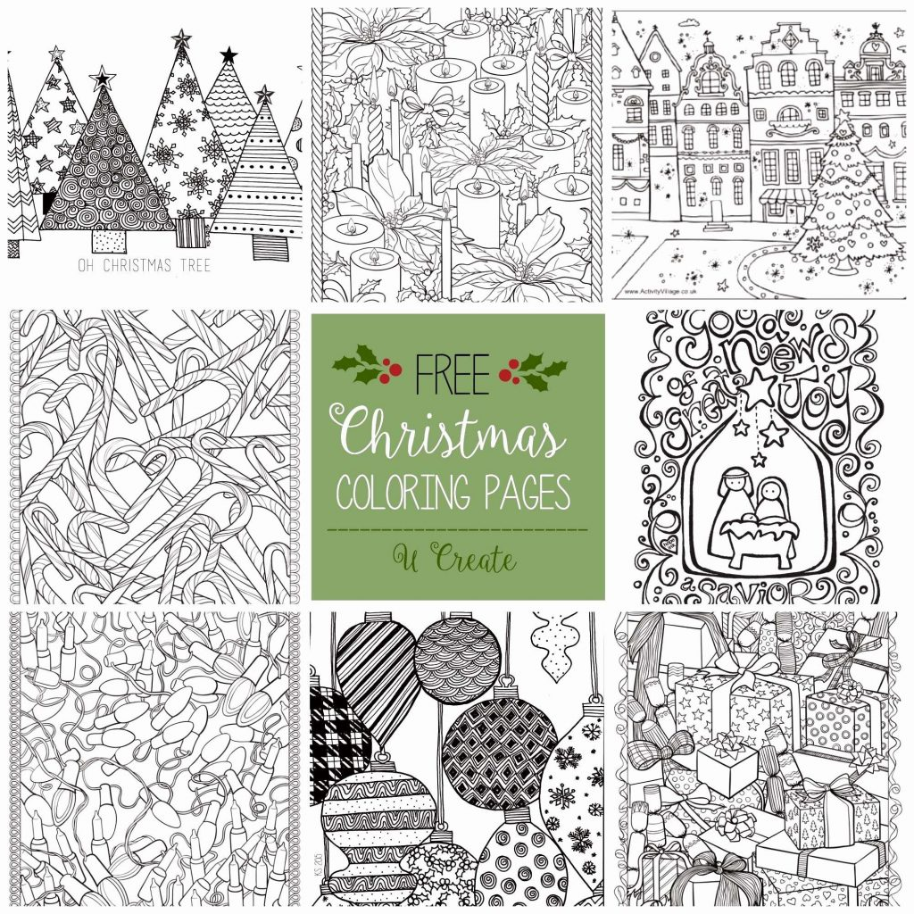 Free Christmas Coloring Pages For Adults Printable Hard To Color With 20 Fresh