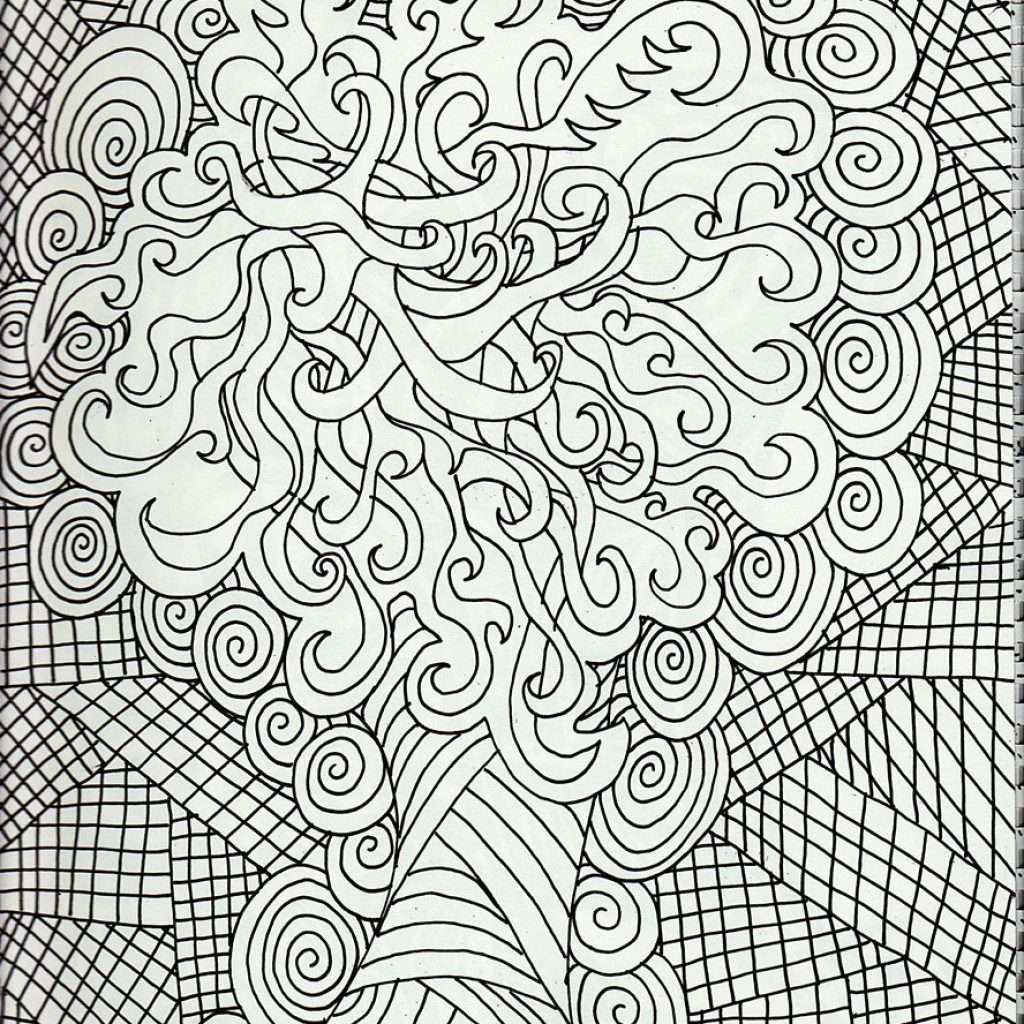 Free Christmas Coloring Pages For Adults Printable Hard To Color With Adult Dr Odd