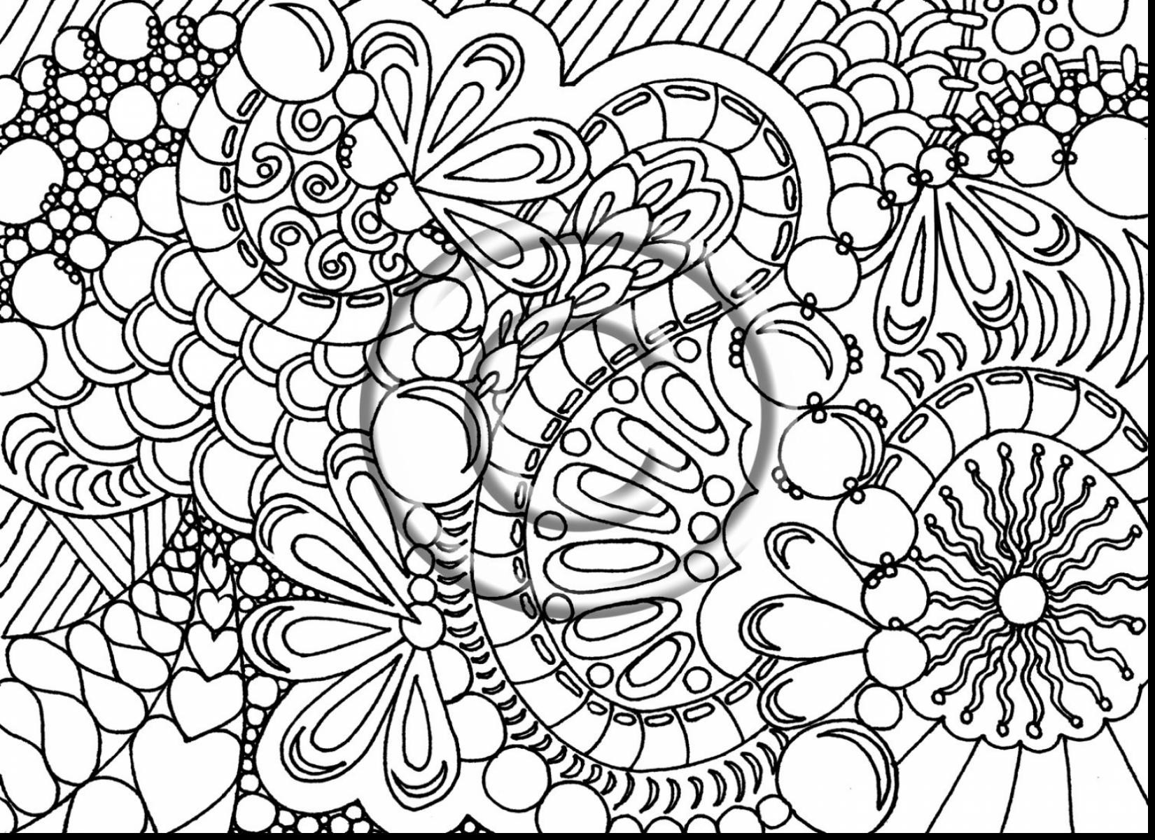 Free Christmas Coloring Pages For Adults Printable Hard To Color With Difficult Great 34 New