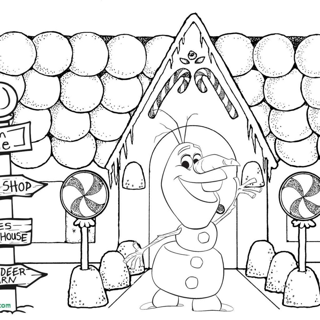 Free Christmas Coloring Pages Gingerbread House With Fresh