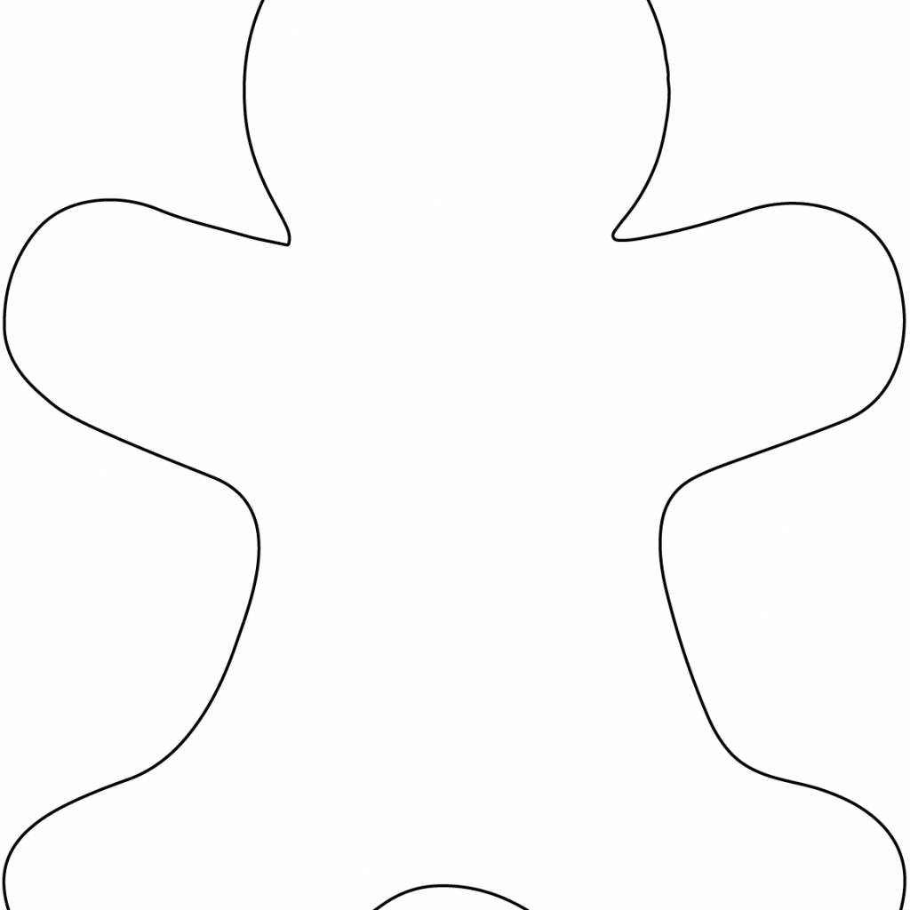 Free Christmas Coloring Pages Gingerbread Man With Blank Page Printable