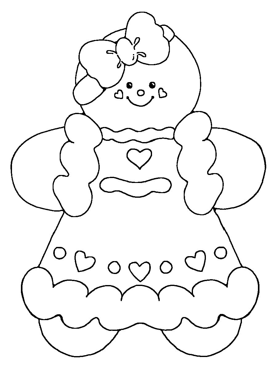 Free Christmas Coloring Pages Gingerbread Man With Galletas Algunos Con Moldes Para
