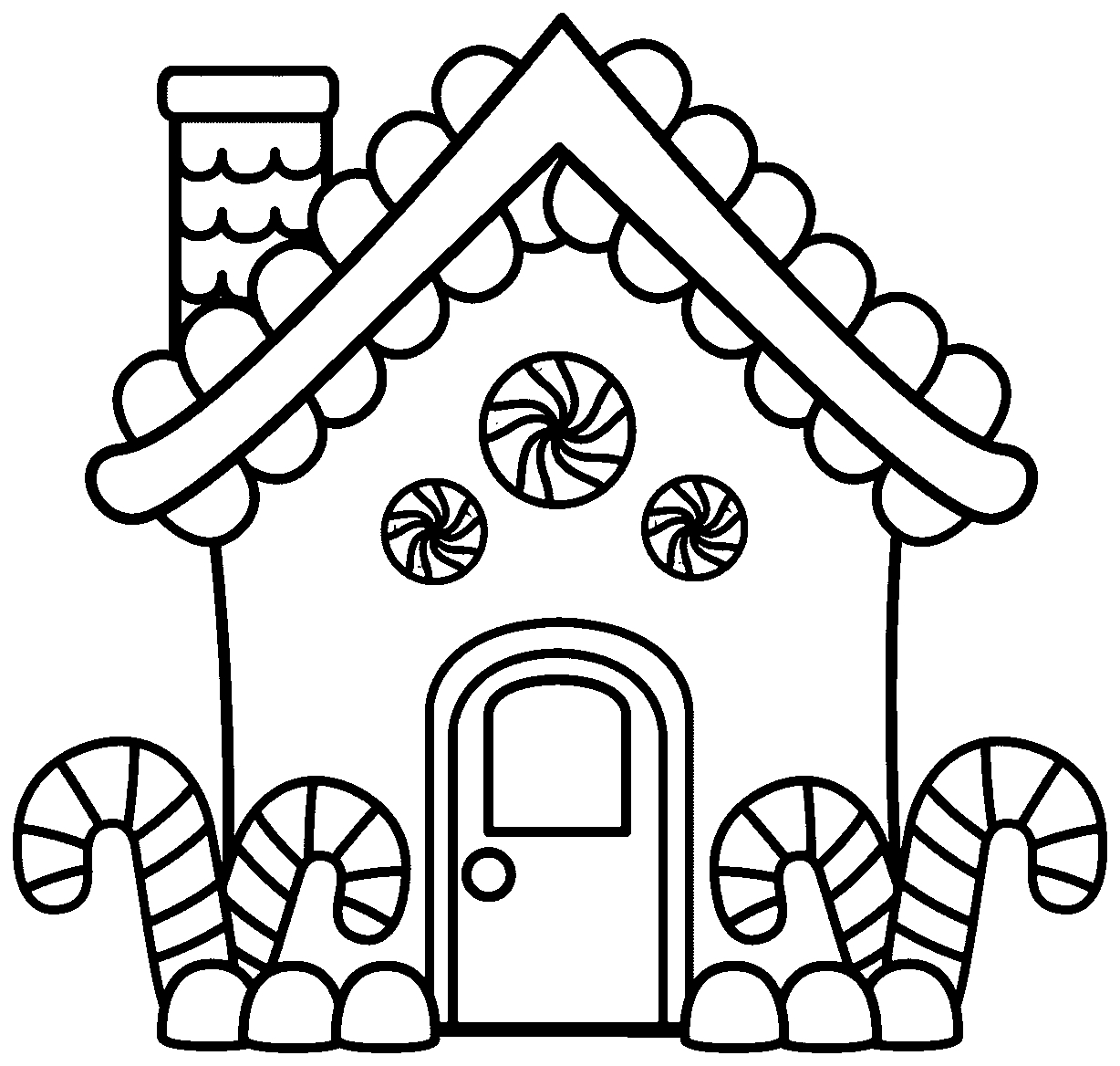 Free Christmas Coloring Pages Gingerbread Man With Page