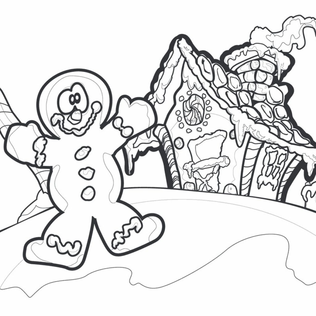 Free Christmas Coloring Pages Gingerbread Man With Printable For Kids