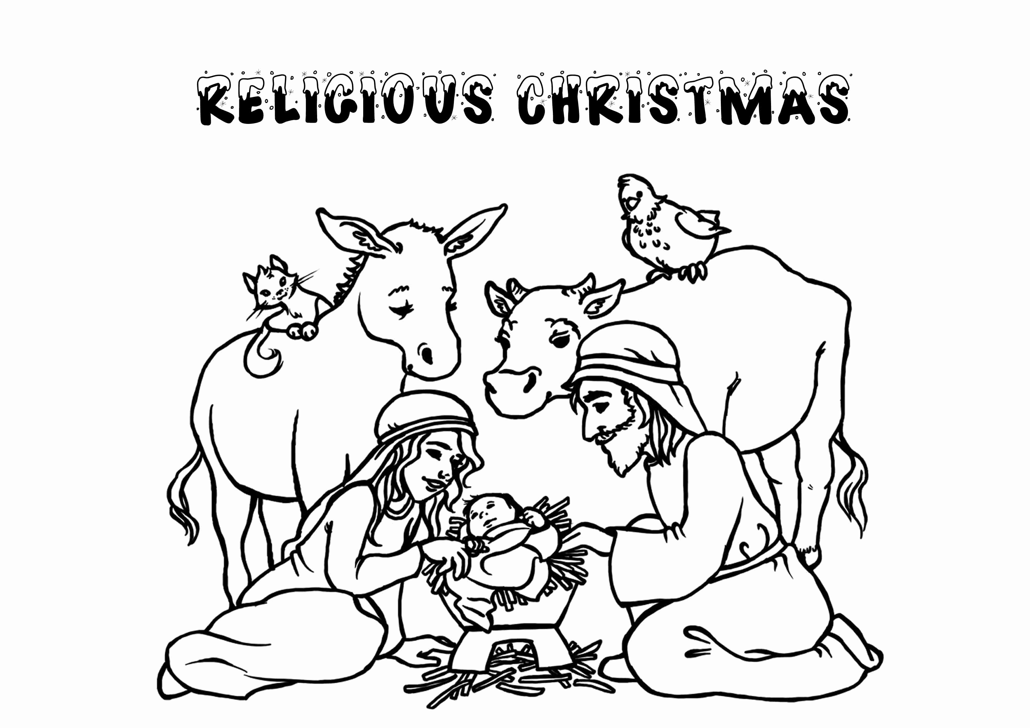 Free Christmas Coloring Pages Religious With Page Christian New Napisy Me