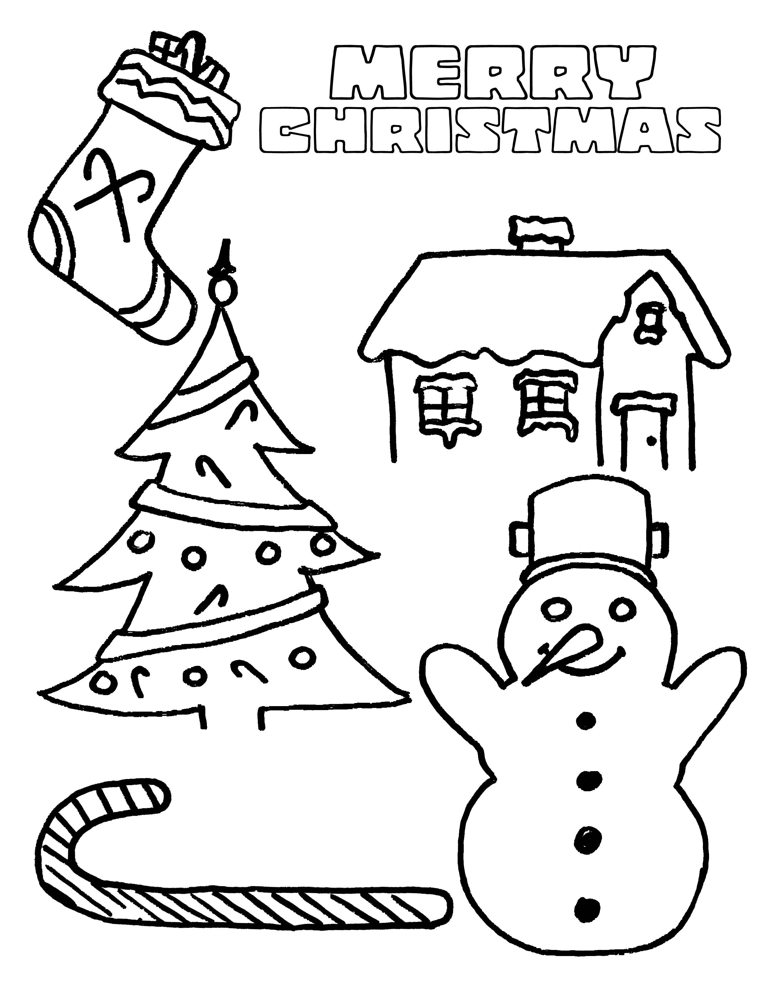 Free Christmas Coloring Pages With Party Simplicity Page For Kids