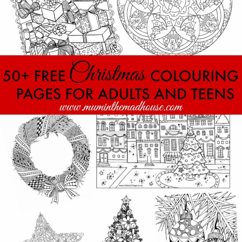 Free Christmas Colouring Pages Uk With For Adults The Ultimate Roundup