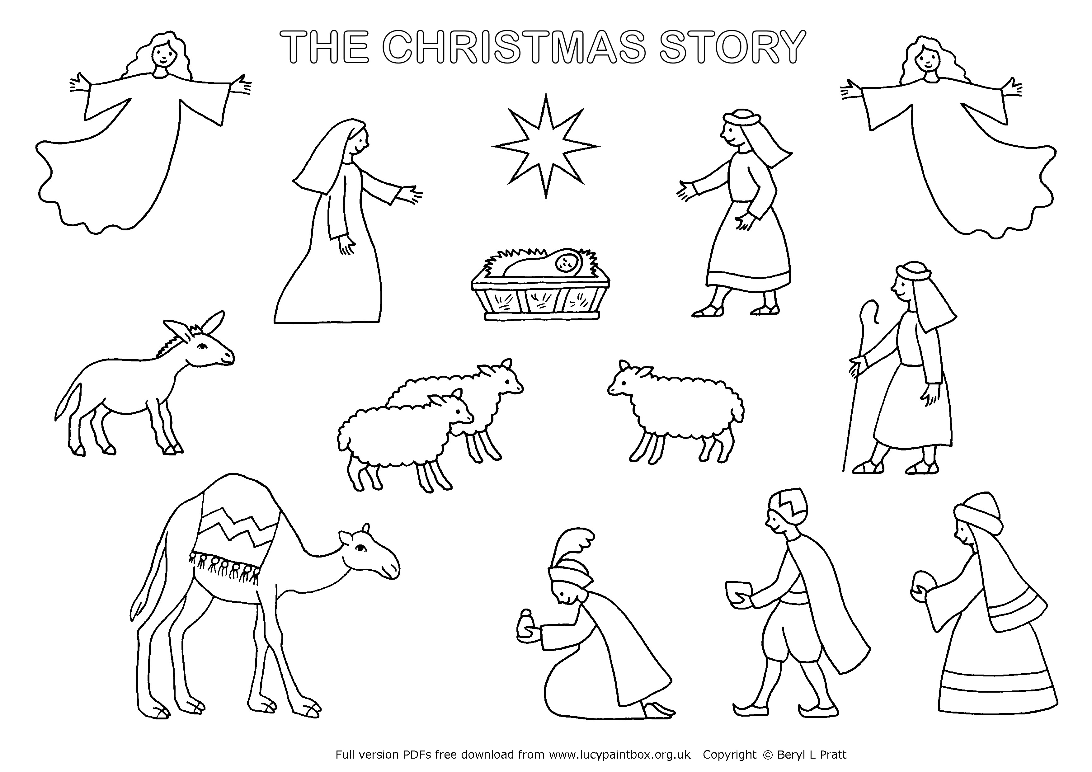 Free Christmas Colouring Pages Uk With Nativity Coloring To Print Books