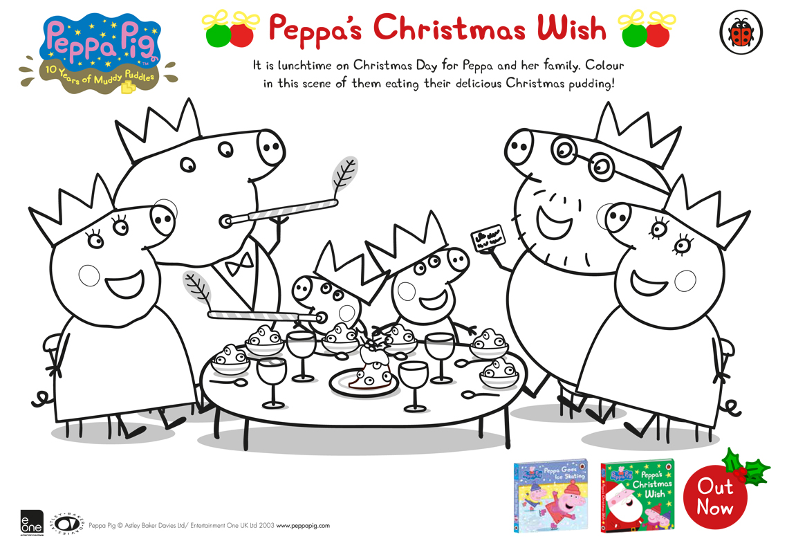 Free Christmas Colouring Pages Uk With Peppa Pig S Wish Download WHSmith Blog
