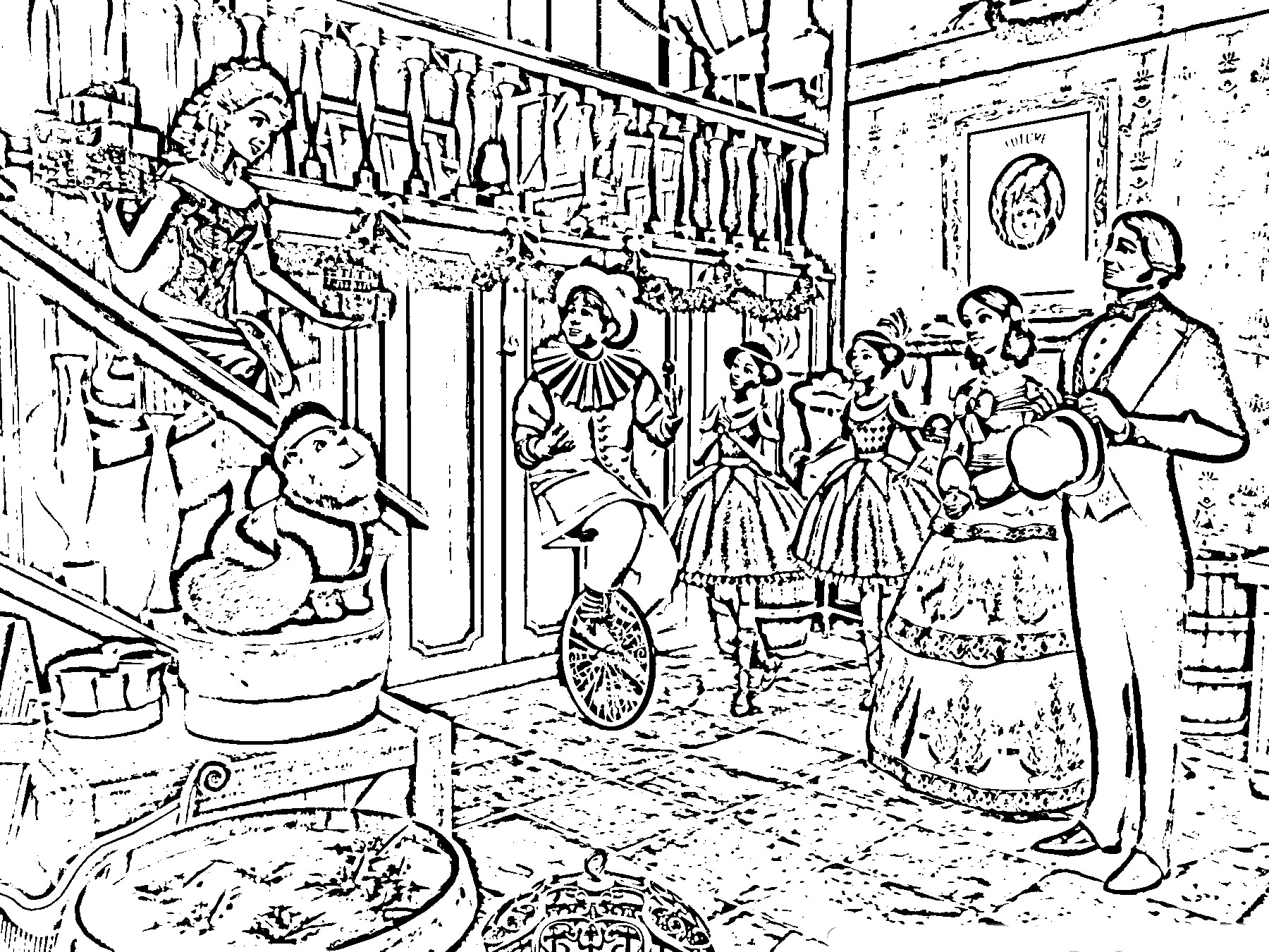 Free Christmas Village Coloring Pages With For Adults 2018 Dr Odd
