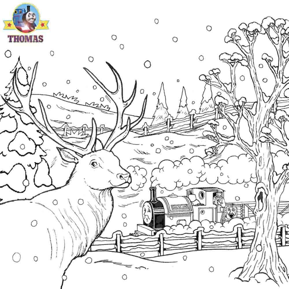 Free Christmas Village Coloring Pages With Thomas Sheets For Children Printable Pictures