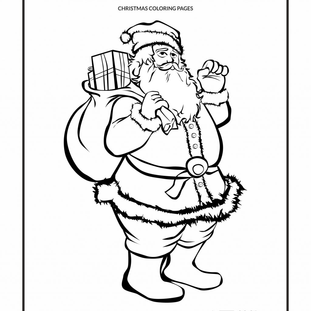 Free Coloring Pages Com Christmas With Cool