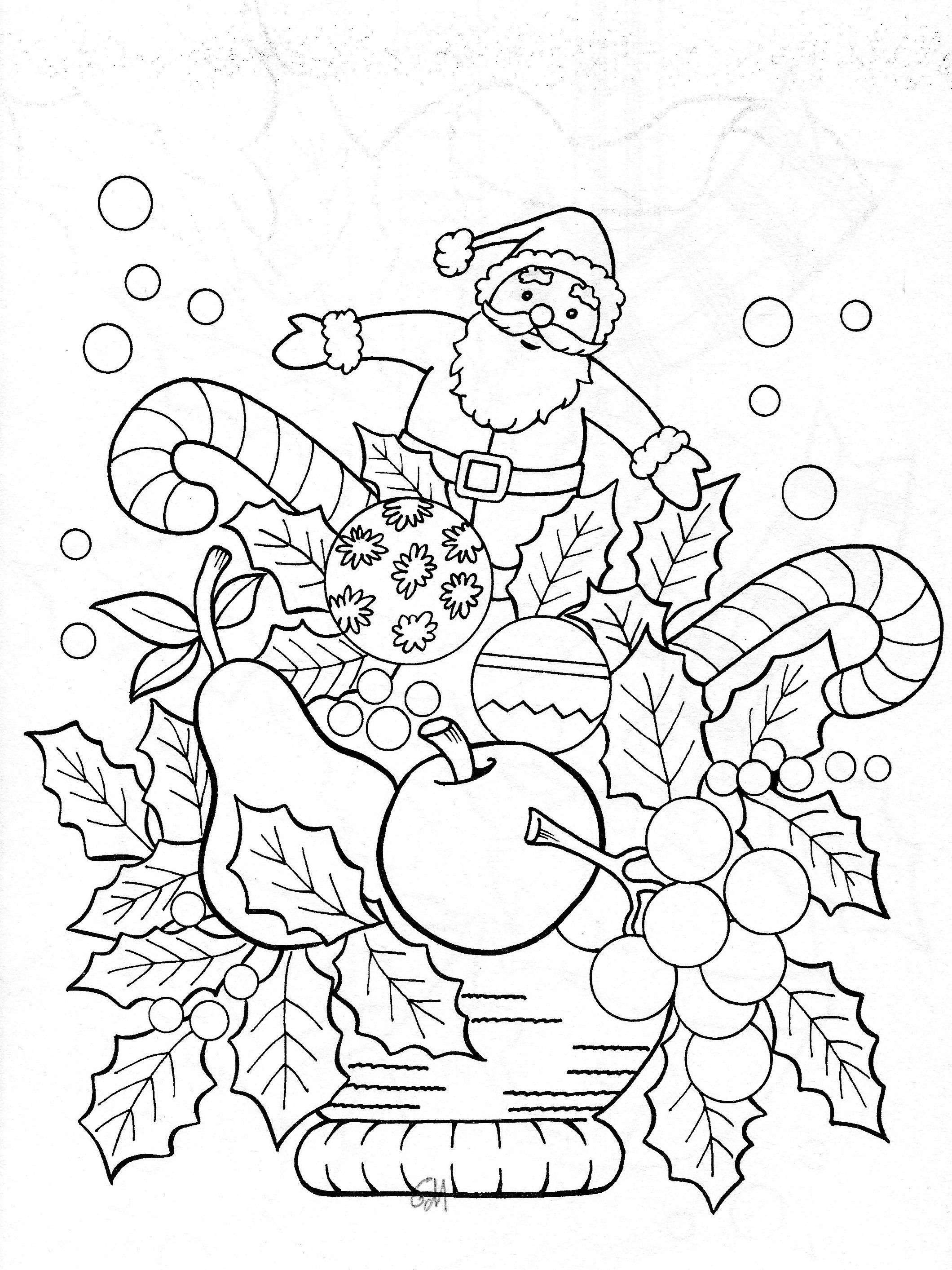 Free Coloring Pages Com Christmas With Luxury Garland Good Wreaths
