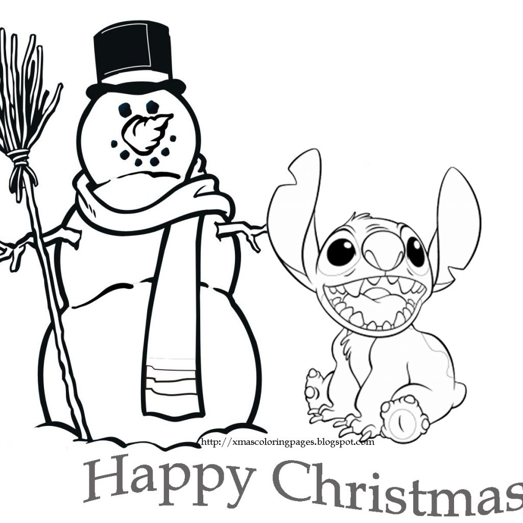 Free Disney Christmas Coloring Pages To Print With DISNEY COLORING PAGES Throughout