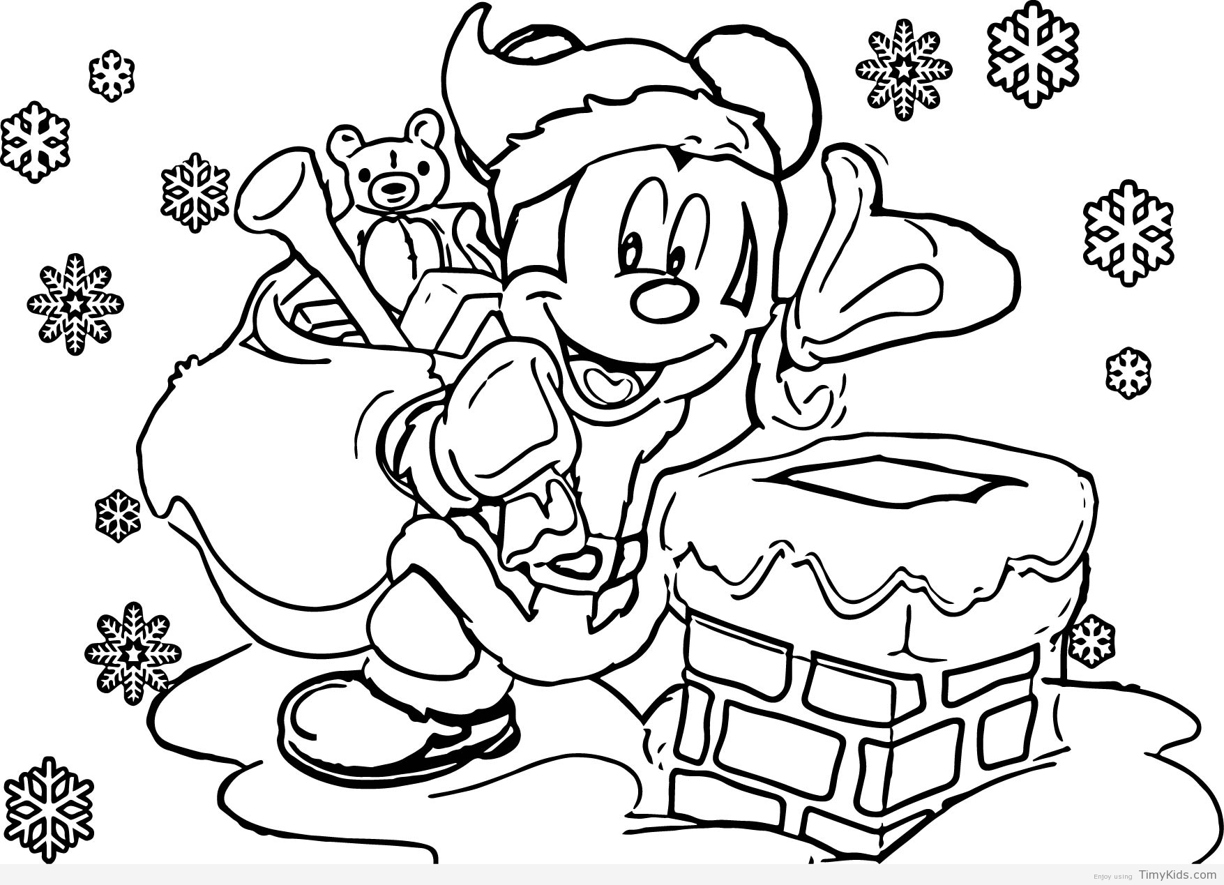 Free Disney Christmas Coloring Pages To Print With Minion Books