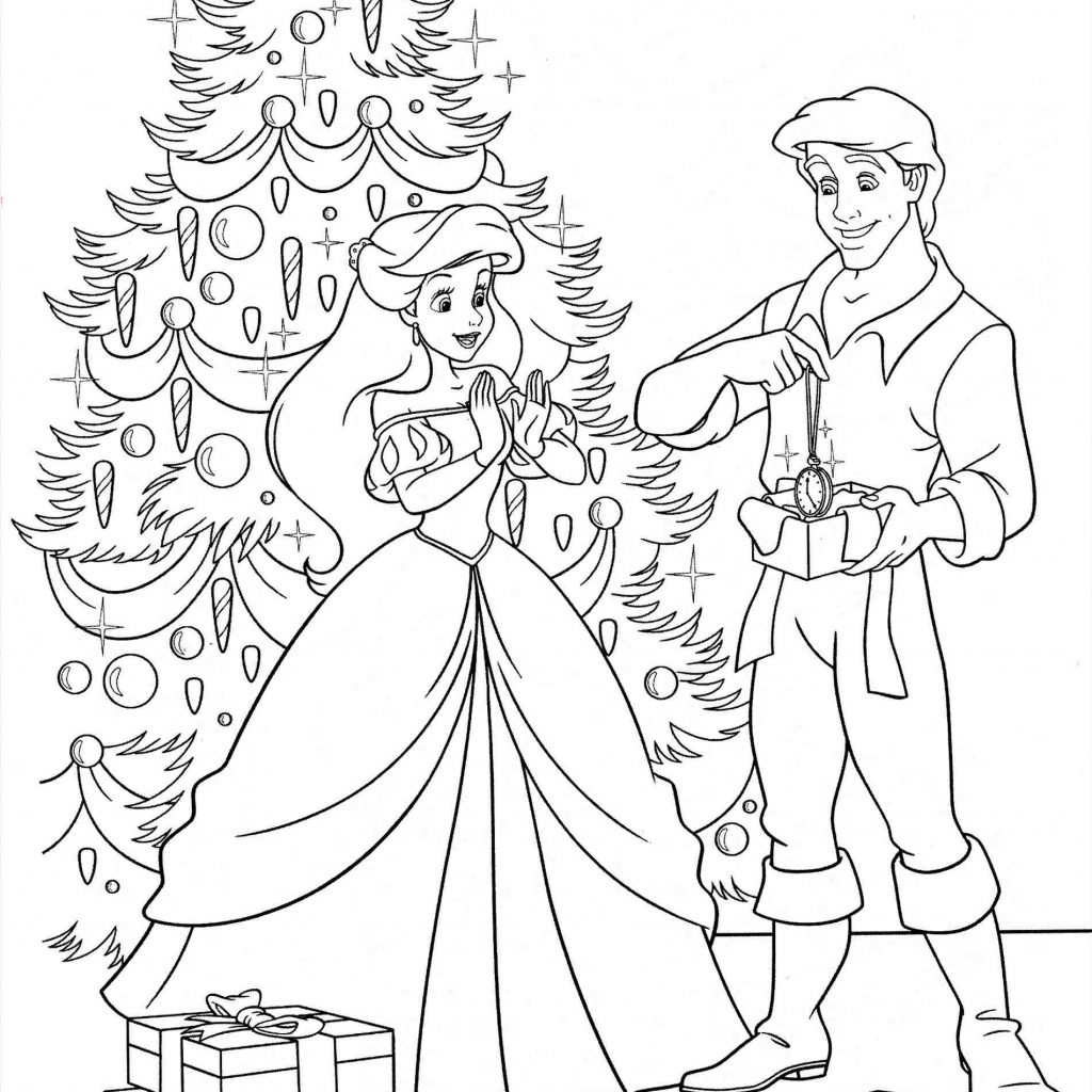 Free Disney Christmas Coloring Pages To Print With New Princess Collection Printable