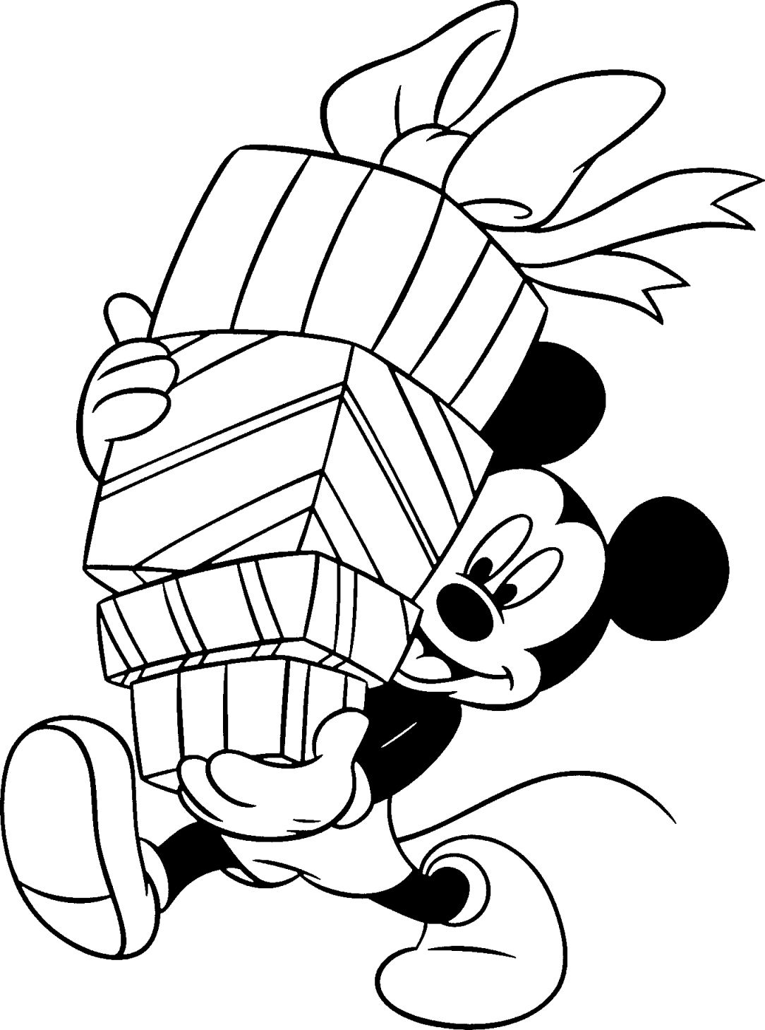 Free Disney Christmas Coloring Pages With Painting Pinterest