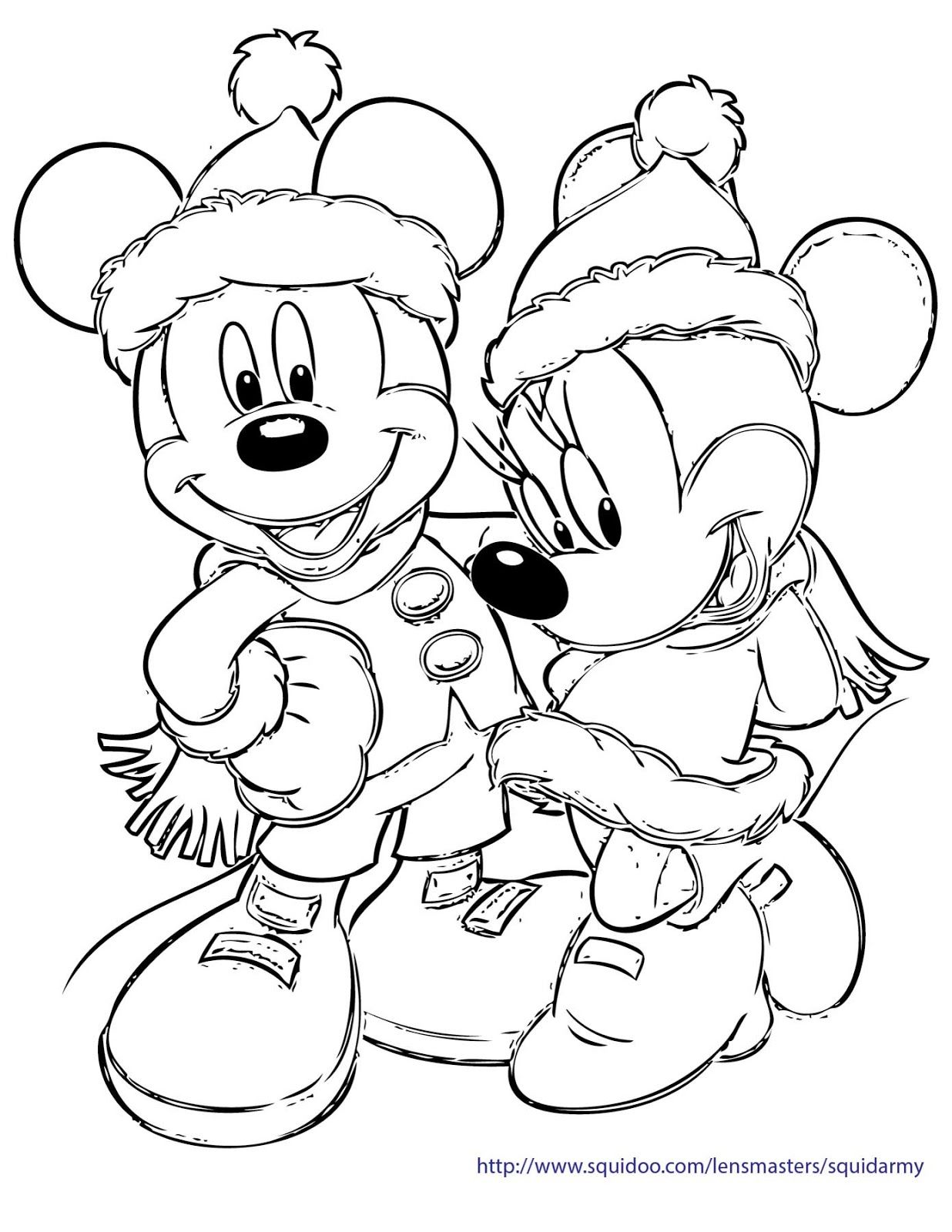 Free Disney Christmas Coloring Pages With Xmas