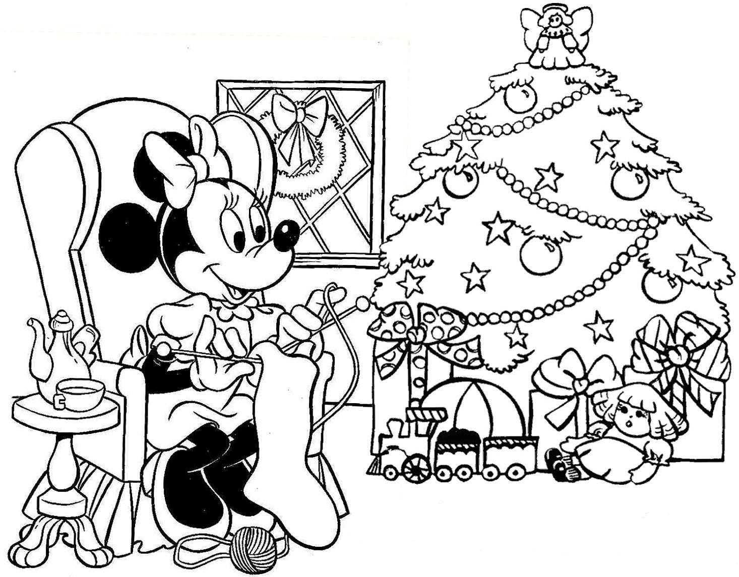 Free Disney Christmas Coloring Sheets With Collection Of Pages Download Them
