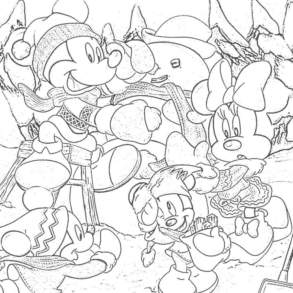 Free Disney Christmas Colouring Sheets With Coloring Pages Pinterest