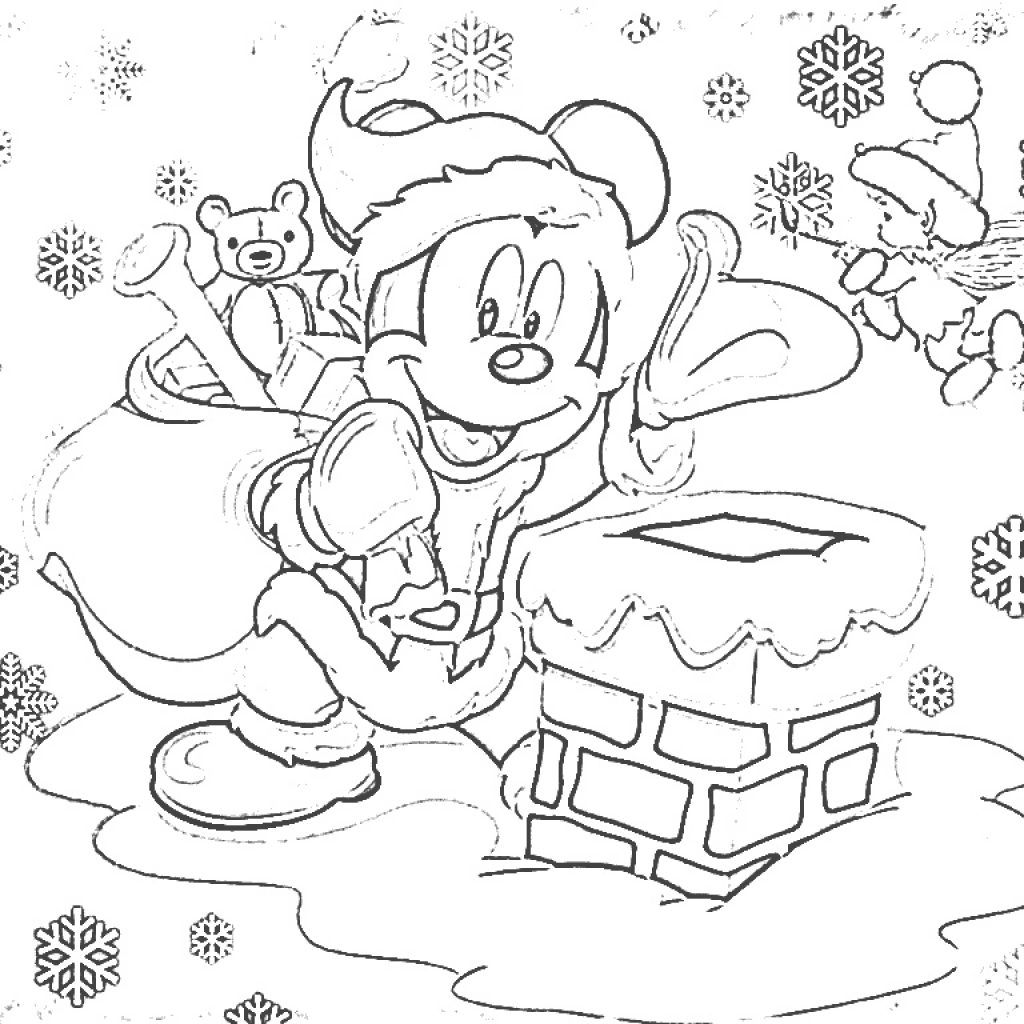 Free Disney Christmas Colouring Sheets With Mickey Mouse Preschool Coloring Pages