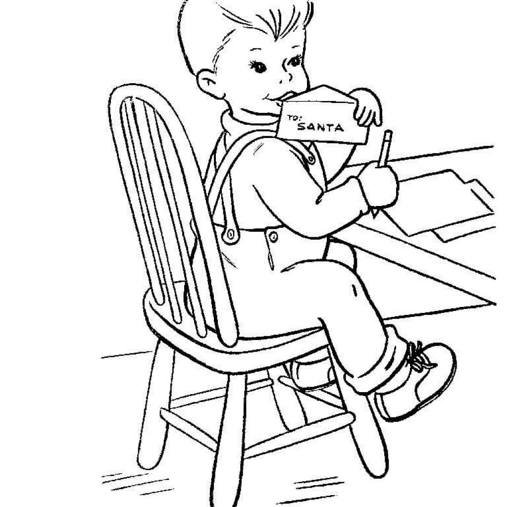 Free Letter To Santa Coloring Page With A Printable Pages