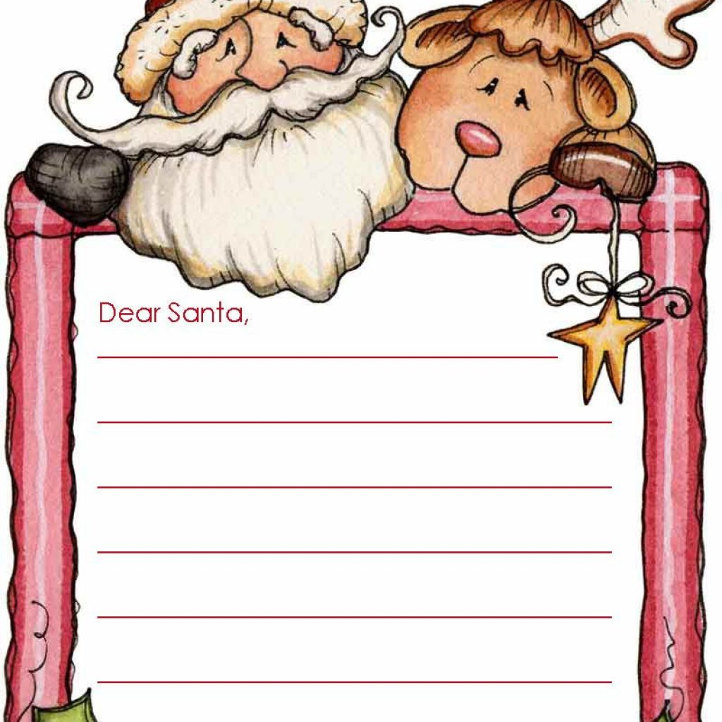 Free Letter To Santa Coloring Page With Write A These Templates Writing