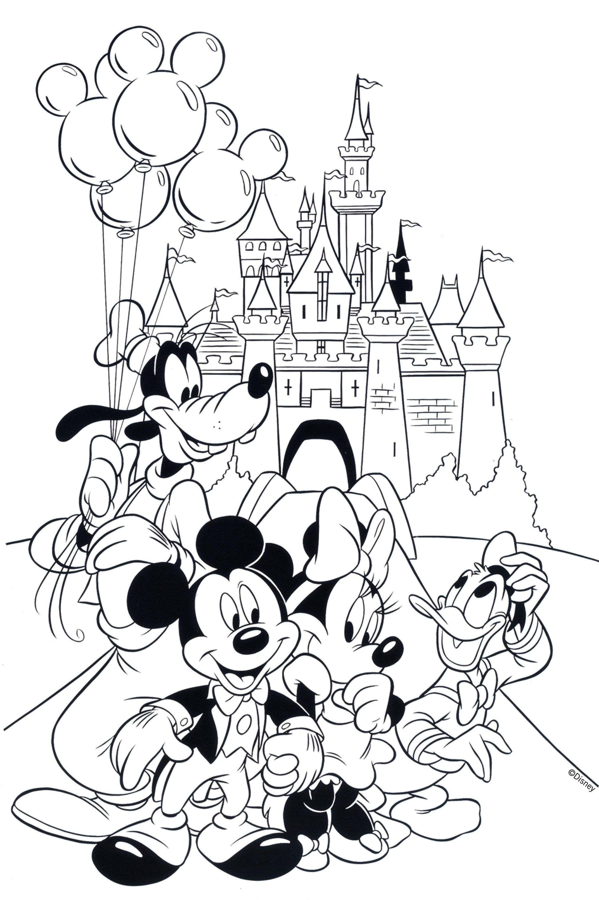 Free Mickey Christmas Coloring Pages With Of And Minnie Mouse Book