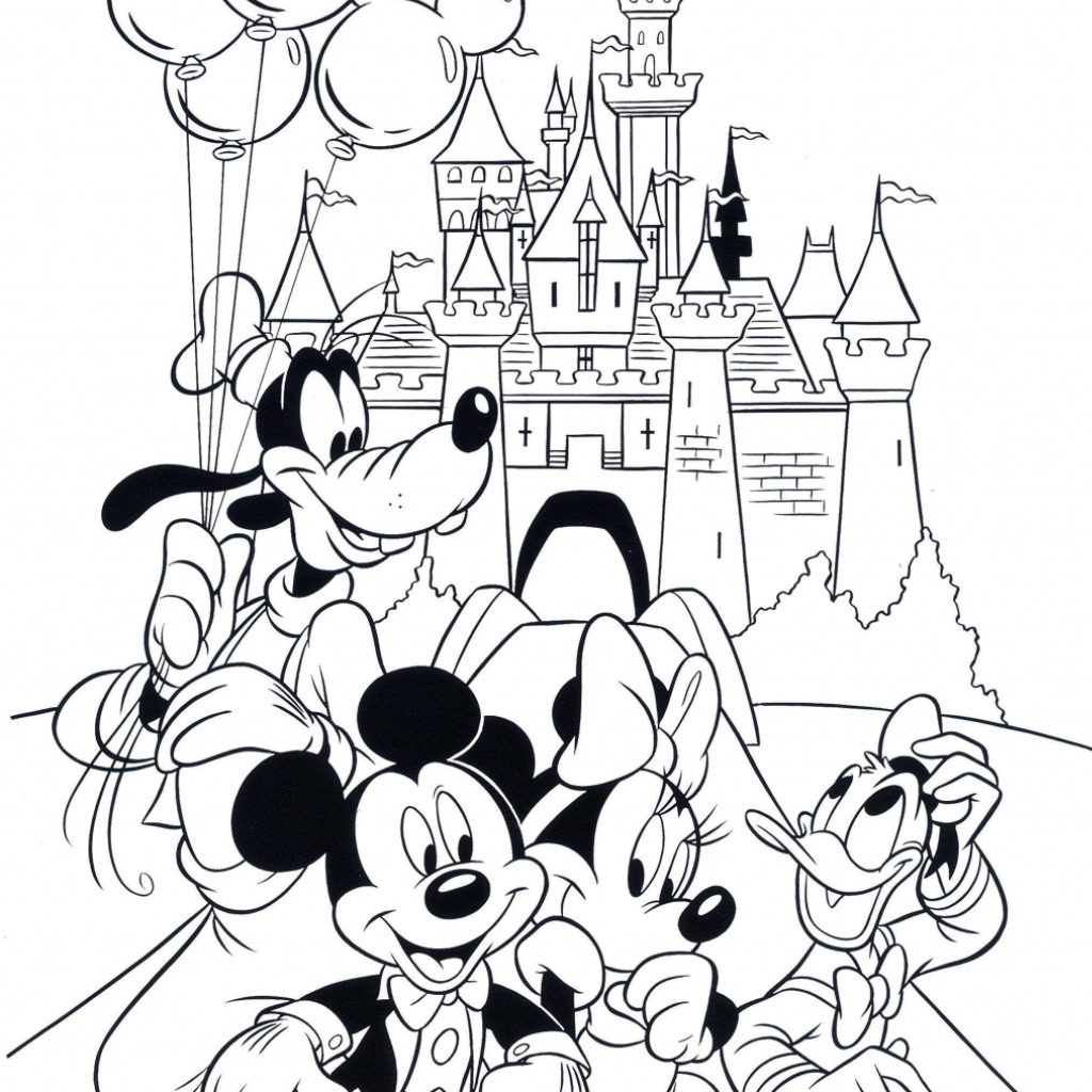 Free Mickey Mouse Christmas Coloring Pages To Print With Clubhouse Minnie Book New