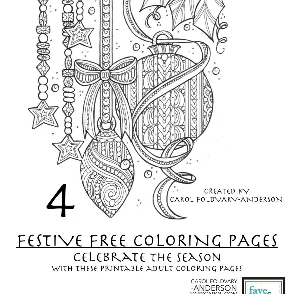 Free Online Christmas Coloring Pages For Adults With 4 Festive Holiday PDF