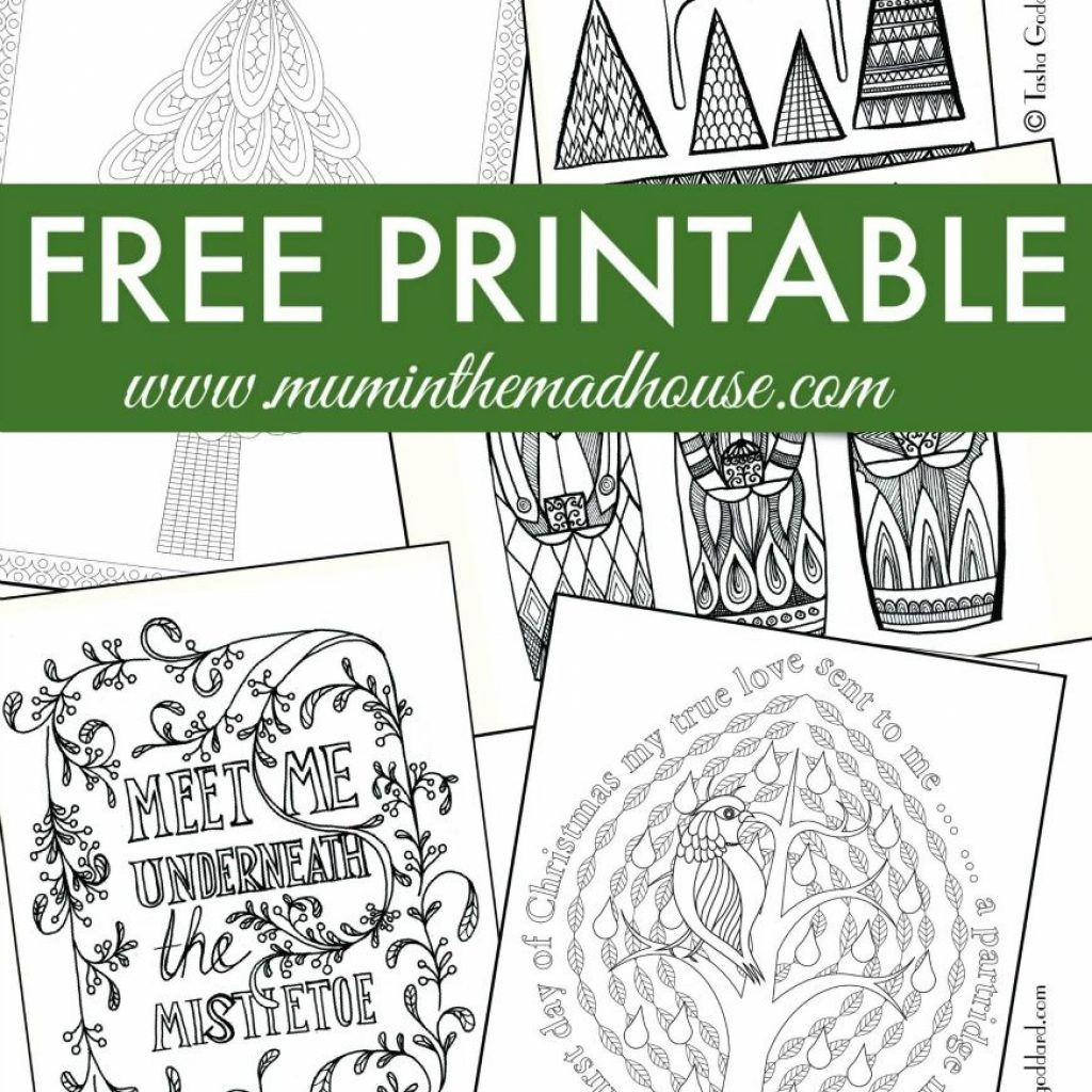 Free Online Christmas Coloring Pages For Adults With Colouring And Teens