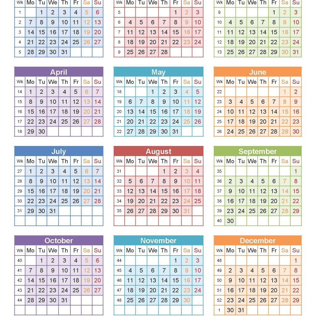 Free Printable 2019 Year Calendar With Holidays Blank USA April 2018