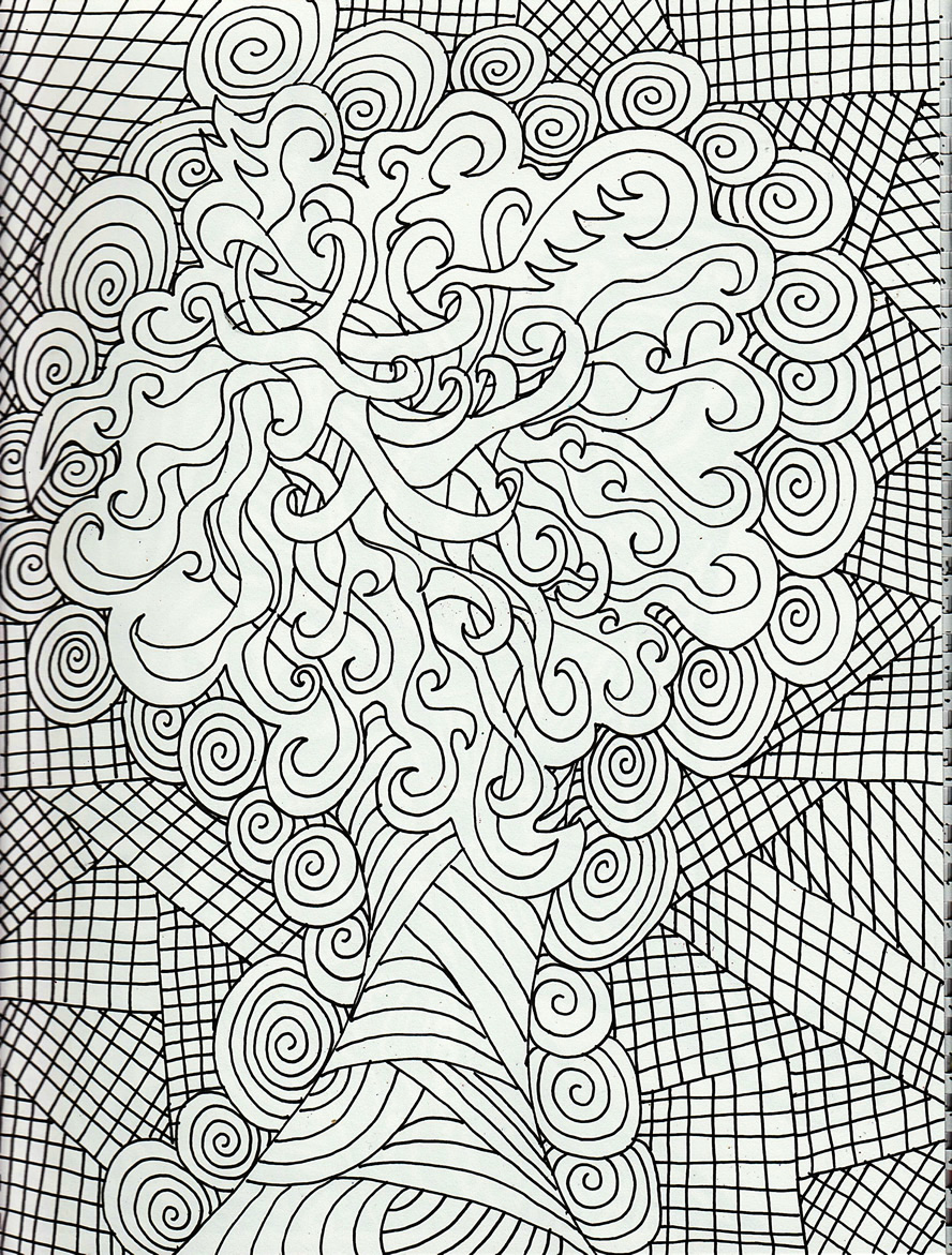 Free Printable Abstract Christmas Coloring Pages With Adult Dr Odd