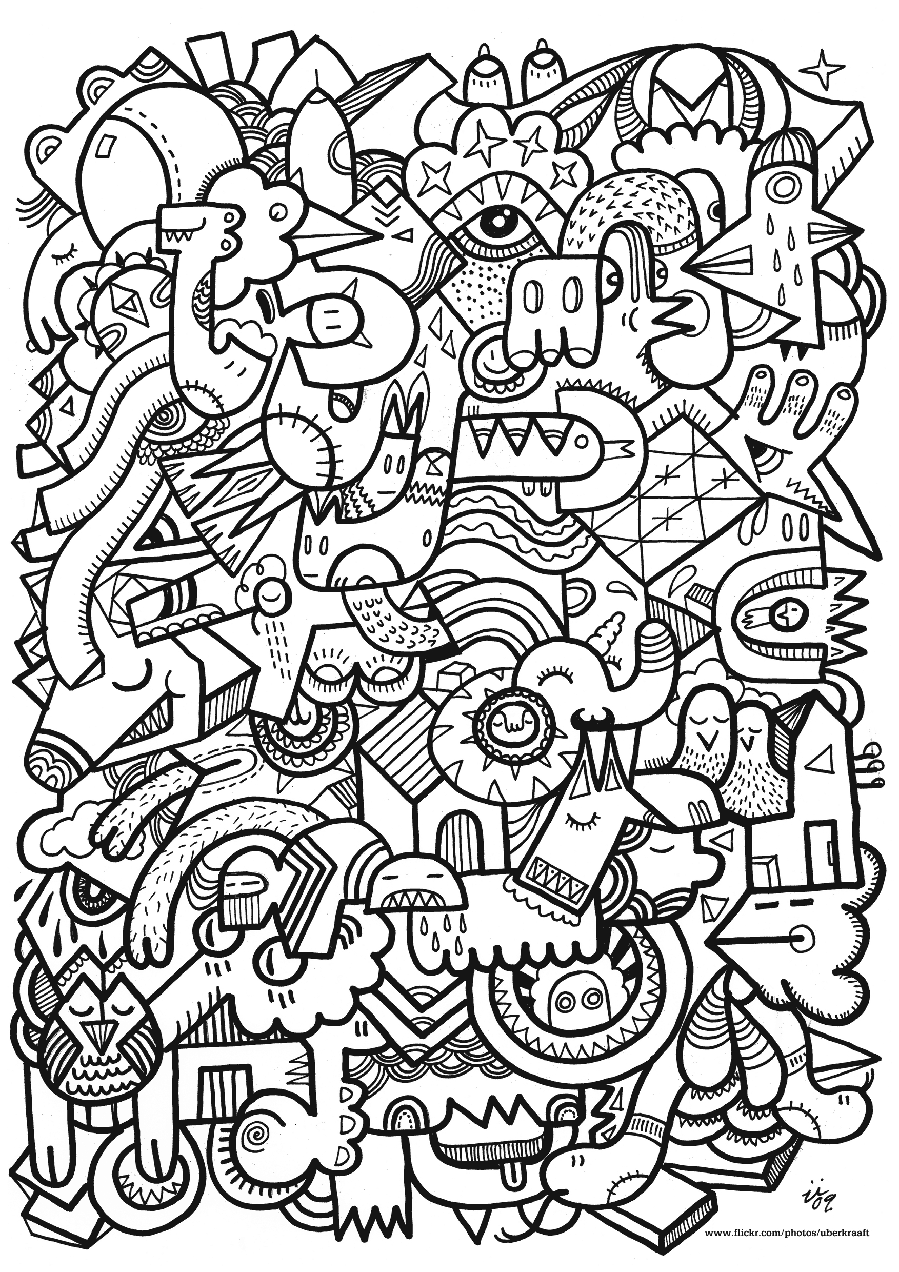 Free Printable Abstract Christmas Coloring Pages With Books